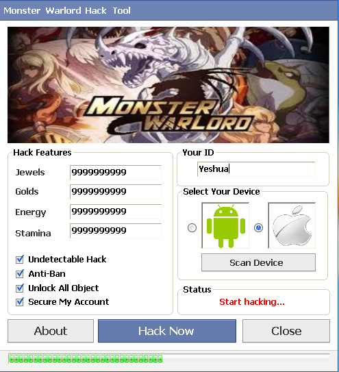 monster warlord hack cheats android ios