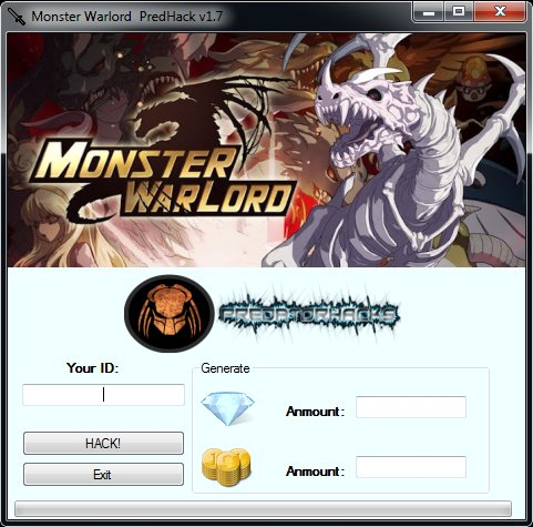 monster warlord Hack cheats